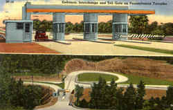 Entrance Interchange And Toll Gate On Pennsylvania Turnpike