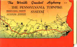 The Pennsylvania Turnpike System Postcard