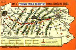 Map Of Pennsylvania Turnpike Postcard