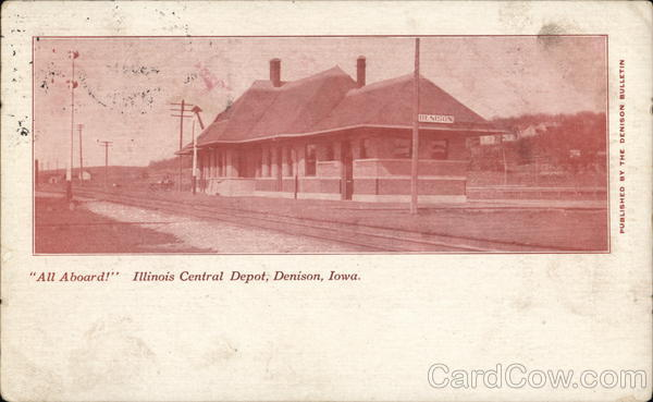 Illinois Central Depot Denison Iowa