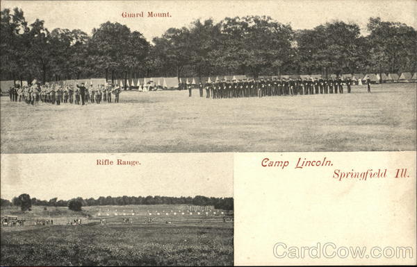 Guard Mount and Rifle Range, Camp Lincoln Springfield Illinois