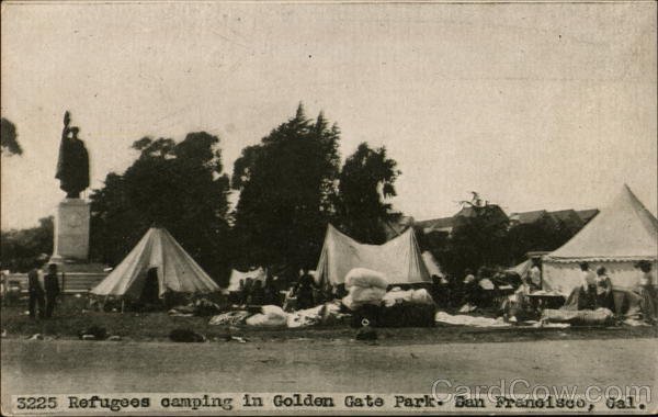 Refugees Camping in Golden Gate Park San Francisco California