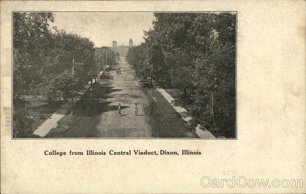 College from Illinois Central Viaduct Dixon