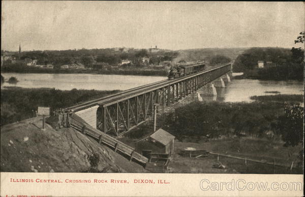 Illinois Central, Crossing Rock River Dixon