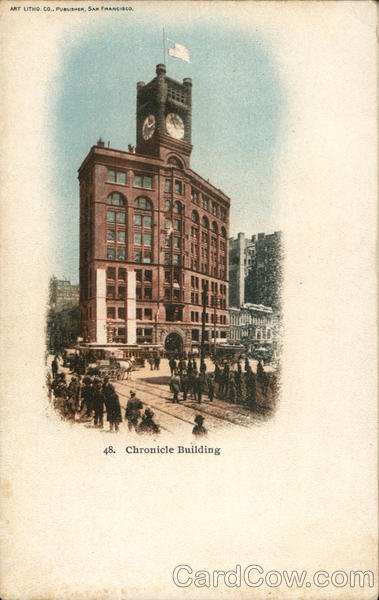 View of Chronicle Building San Francisco California