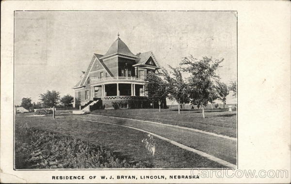 Residence of W. J. Bryan Lincoln Nebraska