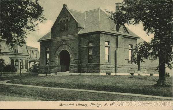 Memorial Library Rindge New Hampshire