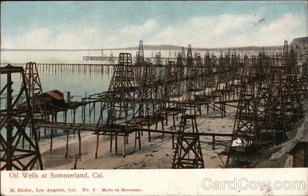 View of Oil Wells Summerland California