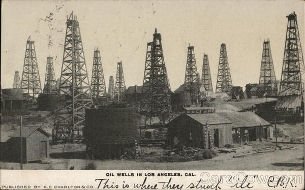 View of Oil Wells Los Angeles California