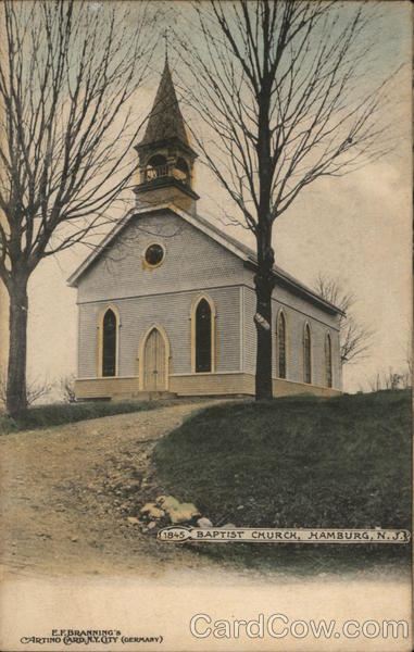 1845 Baptist Church Hamburg New Jersey