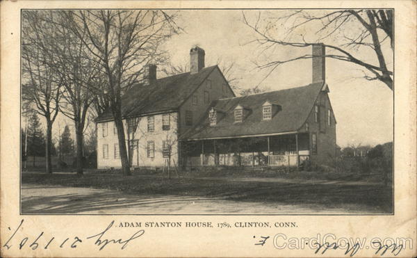 Adam Stanton House, 1789 Clinton Connecticut