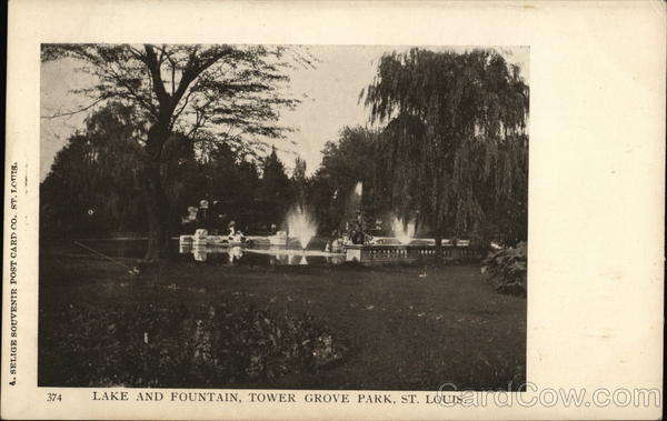 Lake and Fountain, Tower Grove Park St. Louis Missouri