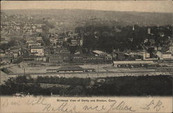 Birdseye View of Derby and Shelton, Conn.