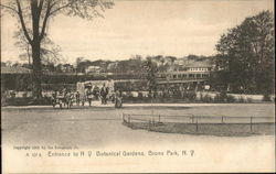 Entrance to Botanical Gardens, Bronx Park