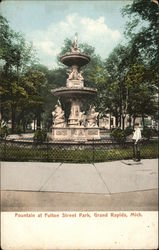 Fountain at Fulton Street Park
