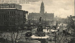 View from City Hall (Showing Campus Martius and County Building.)
