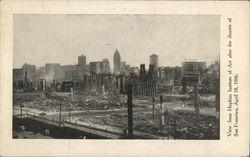 View from Hopkins Institute of Art after the Disaster of April 18,1906