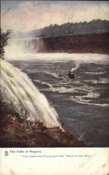 The Falls of Niagara - American Falls and the 'Maid of the Mist' New York Postcard
