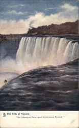 The Falls of Niagara - American Falls and Suspension Bridge