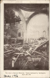 The Alter in Stanford Memorial, Totally Destroyed by Earthquake, April 18th 1996