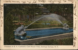Fountain in R.A. Canfield's Club House Park