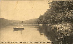 Canoeing On Greenwood Lake