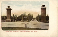 Grand Ave., Entrance, Tower Grove Park