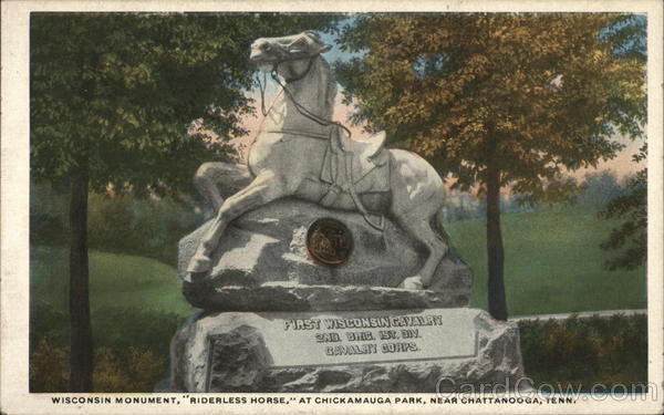 Wisconsin Monument, Riderless Horse at Chickamauga Park Chattanooga Tennessee