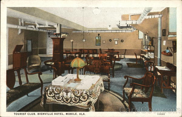 Tourist Club, Bienville Hotel Mobile Alabama Overbey Studio