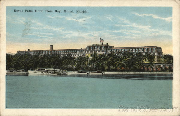 Royal Palm Hotel from Bay Miami Florida