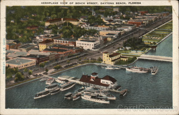 Aeroplane View of Beach Street Daytona Beach Florida