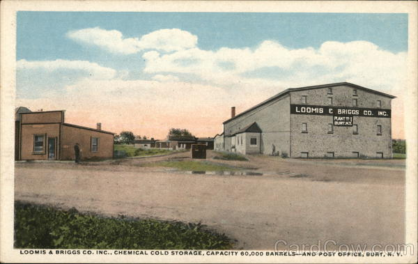 Loomis & Briggs Co., Inc., Chemical Cold Storage, and Post Office Burt New York