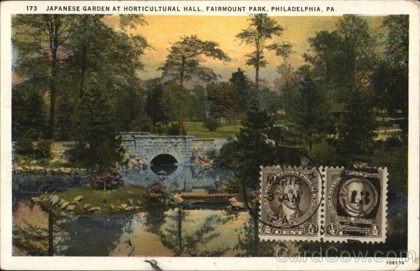Fairmount Park Japanese Garden At Horticultural Hall Philadelphia Pa Postcard