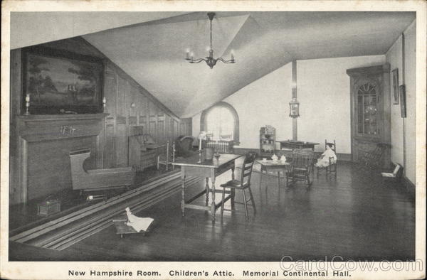 New Hampshire Room, Children's Attic - Memorial Continental Hall Washington District of Columbia