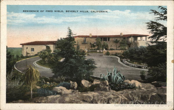 Residence of Fred Niblo Beverly Hills California