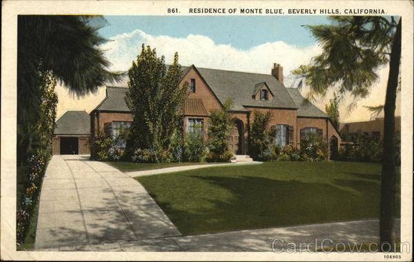 Residence of Monte Blue Beverly Hills California