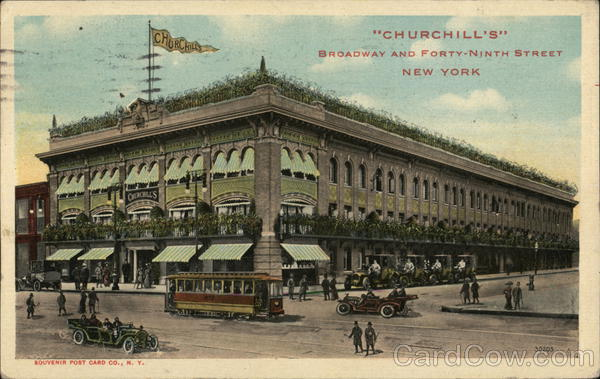 Churchill's - Broadway and Forty-Ninth Street New York