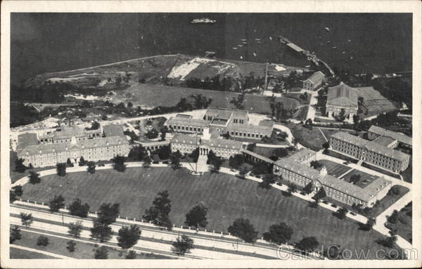 Aerial View of Grounds, U.S. Coast Guard Academy New London Connecticut