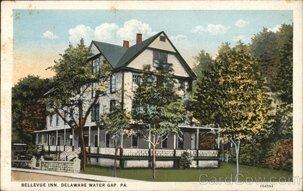 Bellevue Inn Delaware Water Gap Pennsylvania