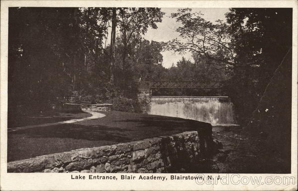 Lake Entrance, Blair Academy Blairstown New Jersey
