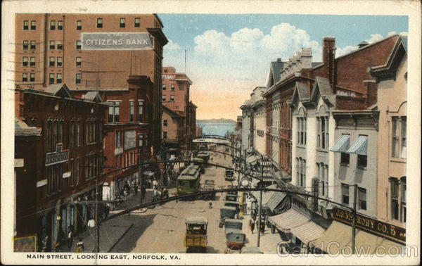 Main Street, Looking East Norfolk Virginia