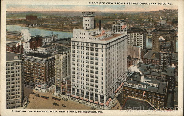 Bird's Eye View from First National Bank Building Pittsburgh Pennsylvania