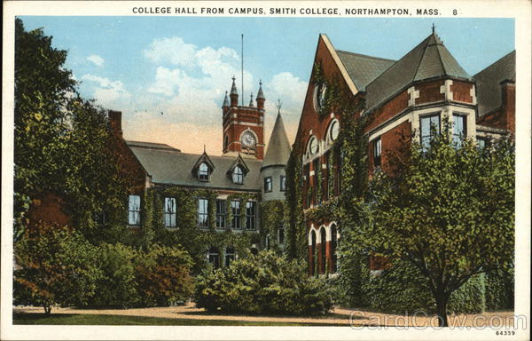 Smith College - College Hall from Campus Northampton Massachusetts