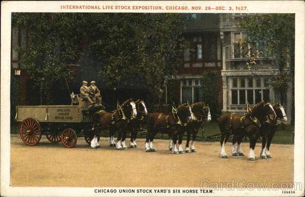 International Live Stock Exposition - Chicago Union Stock Yard's Six-Horse Team Illinois