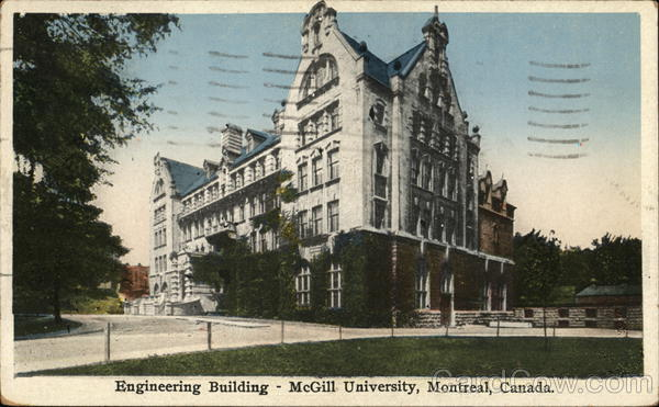 McGill University - Engineering Building Montreal Canada