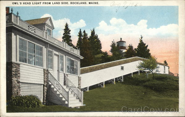 Owl's Head Light From Land Side Rockland Maine