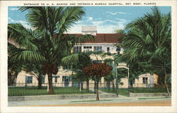 Entrance to U. S. Marine and Veteran's Bureau Hospital