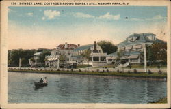 Sunset Lake, Cottages Along Sunset Avenue
