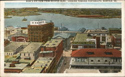 Bird's Eye View from Royster Building Looking Towards Portsmouth