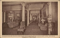 Mezzanine Parlors, Showing Portion of Famous Art Collection - Narragansett Hotel